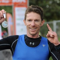 Dated:07/10/2017 Kielder Marathon Weekend  Saturday Run Bike Run Winner Chris Smith