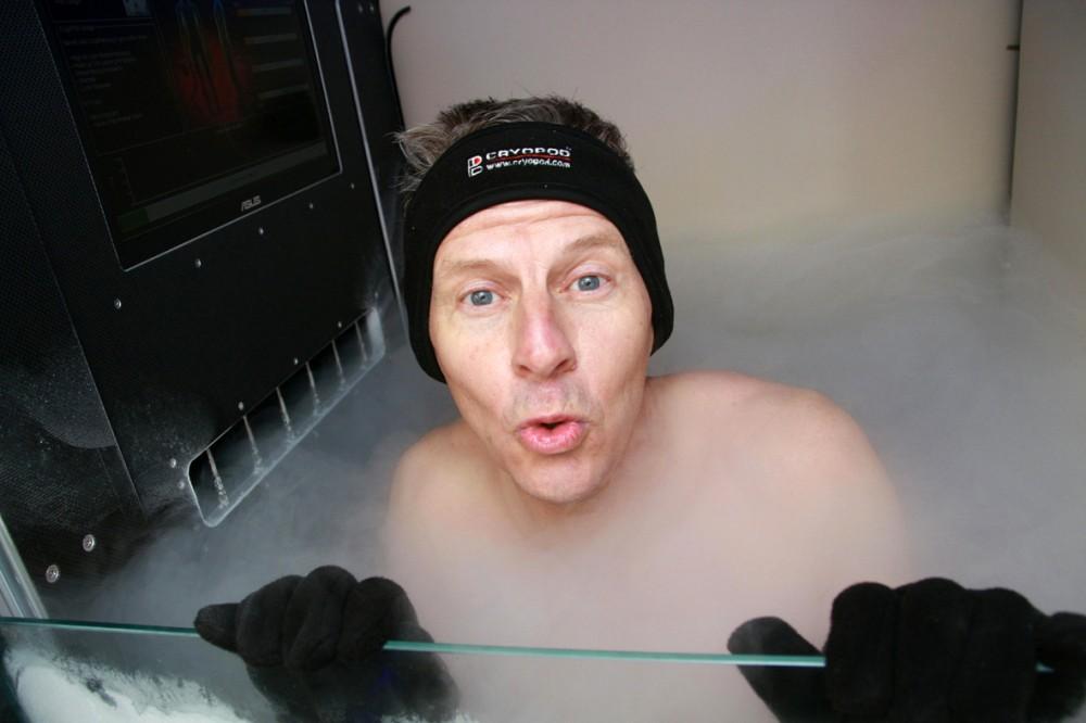 Steve Cram experiences Cryopod
